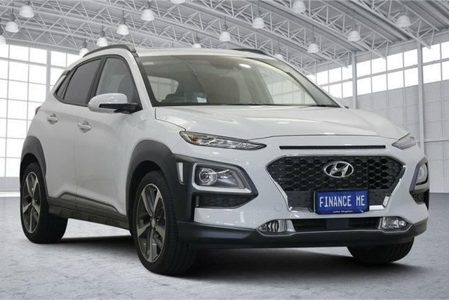 Used Hyundai Kona OS.3 MY20 Highlander 2WD Victoria Park, 2019 Hyundai Kona OS.3 MY20 Highlander 2WD White 6 Speed Sports Automatic Wagon