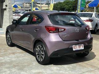 2015 Mazda 2 DJ2HAA Genki SKYACTIV-Drive Purple 6 Speed Sports Automatic Hatchback.