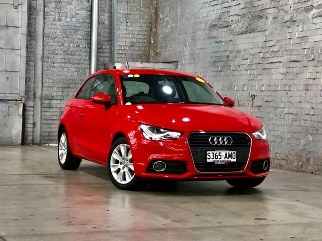 Used Audi A1 8X MY12 Ambition S Tronic Mile End South, 2011 Audi A1 8X MY12 Ambition S Tronic Red/Black 7 Speed Sports Automatic Dual Clutch Hatchback