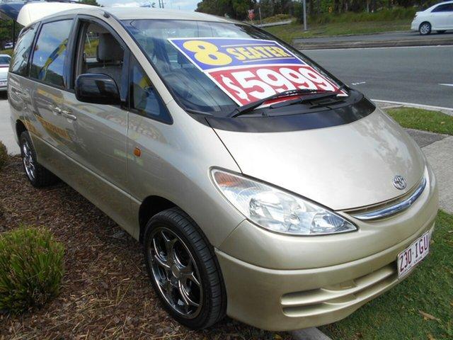 Used Toyota Tarago ACR30R GLi Springwood, 2000 Toyota Tarago ACR30R GLi Gold 4 Speed Automatic Wagon