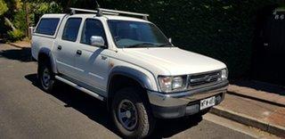 1999 Toyota Hilux LN167R SR5 (4x4) White 5 Speed Manual 4x4 Dual Cab Pick-up.