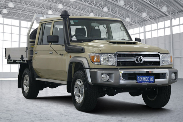 Used Toyota Landcruiser VDJ79R GXL Double Cab Victoria Park, 2020 Toyota Landcruiser VDJ79R GXL Double Cab Beige 5 Speed Manual Cab Chassis