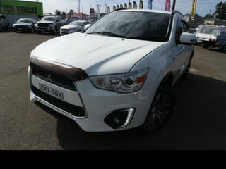 2015 Mitsubishi ASX XB MY15 LS (2WD) White Continuous Variable Wagon.