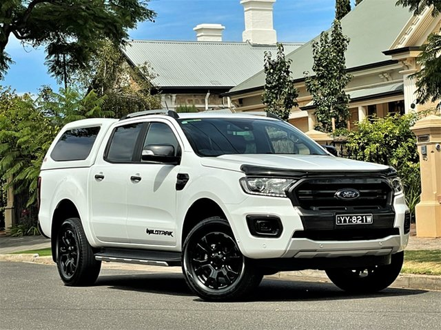Used Ford Ranger PX MkIII 2019.00MY Wildtrak Hyde Park, 2019 Ford Ranger PX MkIII 2019.00MY Wildtrak White 10 Speed Sports Automatic Double Cab Pick Up