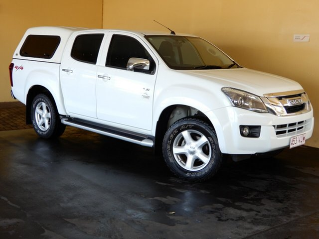 Used Isuzu D-MAX TF MY15 LS-U HI-Ride (4x4) Toowoomba, 2014 Isuzu D-MAX TF MY15 LS-U HI-Ride (4x4) White 5 Speed Manual Crew Cab Utility