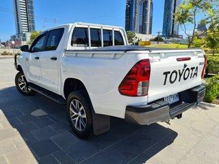 2018 Toyota Hilux GUN126R SR Double Cab White 6 Speed Sports Automatic Utility