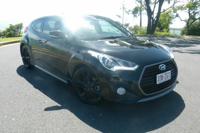 Used Hyundai Veloster FS5 Series II SR Coupe D-CT Turbo Gladstone, 2015 Hyundai Veloster FS5 Series II SR Coupe D-CT Turbo Black 7 Speed Sports Automatic Dual Clutch