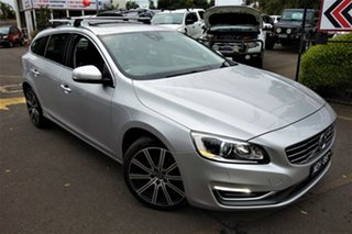 2014 Volvo V60 F Series MY14 D4 Geartronic Luxury Silver 6 Speed Sports Automatic Wagon.