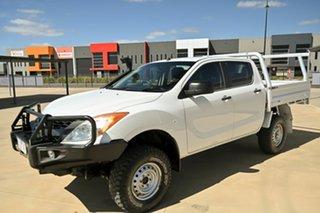 2012 Mazda BT-50 UP0YF1 XT White 6 Speed Manual Cab Chassis