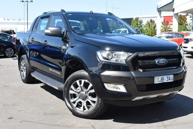 Used Ford Ranger PX MkII Wildtrak Double Cab Essendon Fields, 2017 Ford Ranger PX MkII Wildtrak Double Cab Black 6 Speed Sports Automatic Utility