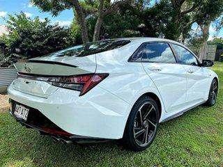 2020 Hyundai i30 CN7.V1 MY21 N Line D-CT Polar White 7 Speed Sports Automatic Dual Clutch Sedan.