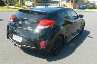 2015 Hyundai Veloster FS5 Series II SR Coupe D-CT Turbo Black 7 Speed Sports Automatic Dual Clutch.