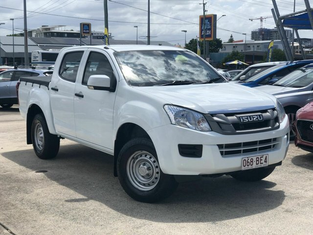 Used Isuzu D-MAX MY14 SX Crew Cab 4x2 High Ride Chermside, 2014 Isuzu D-MAX MY14 SX Crew Cab 4x2 High Ride White 5 Speed Sports Automatic Utility