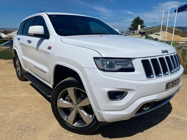 Used Jeep Grand Cherokee WK MY2014 Overland Christies Beach, 2013 Jeep Grand Cherokee WK MY2014 Overland White 8 Speed Sports Automatic Wagon