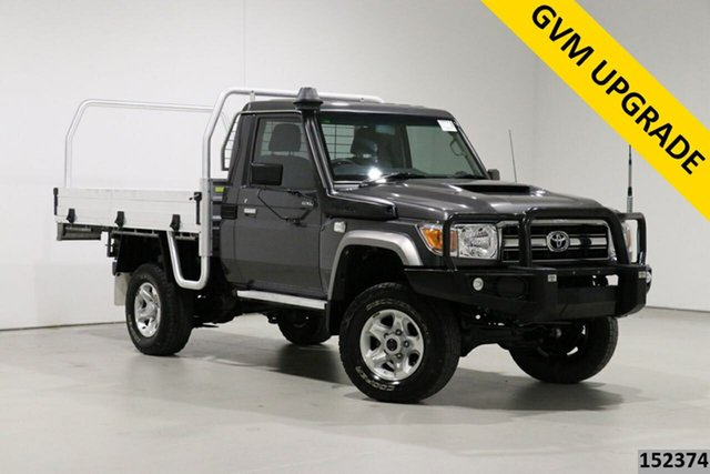 Used Toyota Landcruiser LC70 VDJ79R MY17 GXL (4x4) Bentley, 2017 Toyota Landcruiser LC70 VDJ79R MY17 GXL (4x4) Graphite 5 Speed Manual Cab Chassis