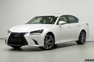 2017 Lexus GS450H GWL10R MY17 Hybrid Sports Luxury Pearl White 6 Speed CVT Auto Sequential Sedan.