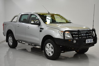 2013 Ford Ranger PX XLT Double Cab Silver 6 Speed Manual Utility
