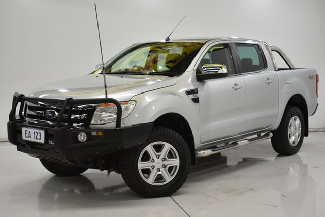 Used Ford Ranger PX XLT Double Cab Brooklyn, 2013 Ford Ranger PX XLT Double Cab Silver 6 Speed Manual Utility