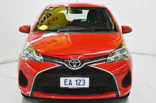 2015 Toyota Yaris NCP130R Ascent Red/Black 4 Speed Automatic Hatchback.