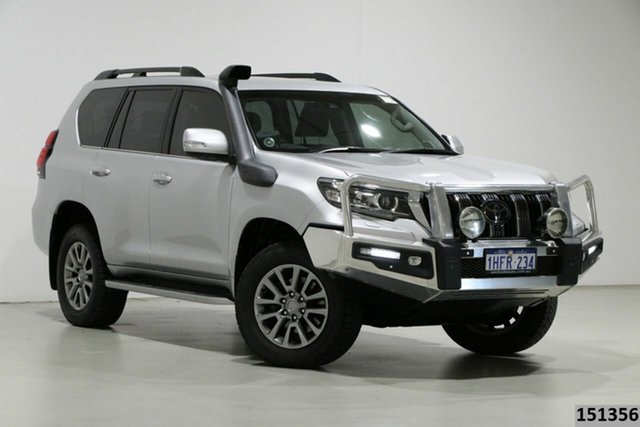 Used Toyota Landcruiser Prado GDJ150R MY17 VX (4x4) Bentley, 2017 Toyota Landcruiser Prado GDJ150R MY17 VX (4x4) Silver 6 Speed Automatic Wagon
