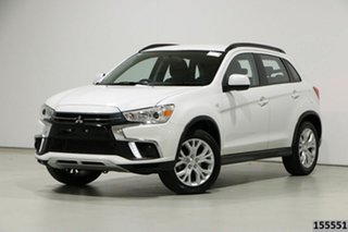 2019 Mitsubishi ASX XC MY19 ES (2WD) White Continuous Variable Wagon.