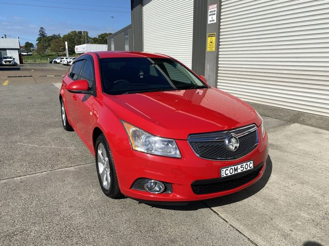 Used Holden Cruze JH Series II MY13 Equipe Cardiff, 2013 Holden Cruze JH Series II MY13 Equipe Red 6 Speed Sports Automatic Hatchback