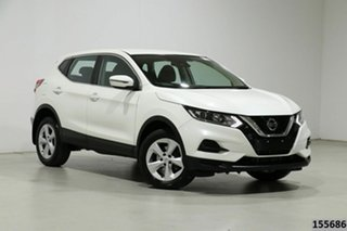 2019 Nissan Qashqai MY20 ST White Continuous Variable Wagon.