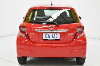 2015 Toyota Yaris NCP130R Ascent Red/Black 4 Speed Automatic Hatchback