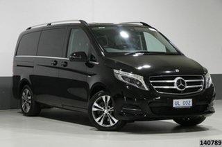 2017 Mercedes-Benz V250d 447 MY17 Avantgarde MWB Obsidian Black 7 Speed Automatic Wagon.