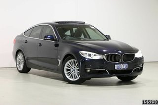 2016 BMW 320i F34 MY15 Upgrade Gran Turismo (Luxury) Blue 8 Speed Automatic Hatchback.
