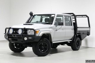 2019 Toyota Landcruiser VDJ79R GXL (4x4) Silver 5 Speed Manual Double Cab Chassis.