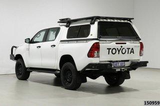 2018 Toyota Hilux GUN126R MY17 SR (4x4) White 6 Speed Automatic Dual Cab Utility