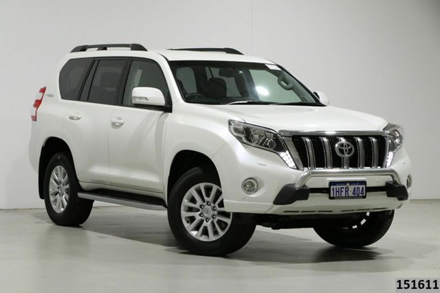 Used Toyota Landcruiser Prado GDJ150R MY16 VX (4x4) Bentley, 2017 Toyota Landcruiser Prado GDJ150R MY16 VX (4x4) Crystal Pearl 6 Speed Automatic Wagon