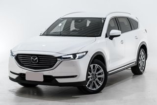 2018 Mazda CX-8 KG4W2A Asaki SKYACTIV-Drive i-ACTIV AWD White 6 Speed Sports Automatic Wagon.