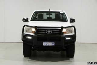 2015 Toyota Hilux GUN126R SR (4x4) White 6 Speed Manual Dual Cab Utility.