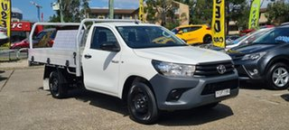 2017 Toyota Hilux TGN121R Workmate 4x2 White 6 Speed Sports Automatic Cab Chassis.
