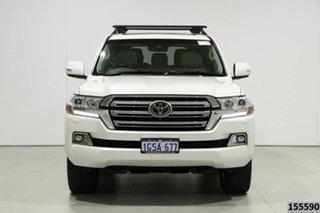 2019 Toyota Landcruiser VDJ200R LC200 Sahara (4x4) Crystal Pearl 6 Speed Automatic Wagon.