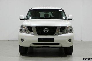 2017 Nissan Patrol Y62 Series 3 TI (4x4) White 7 Speed Automatic Wagon.