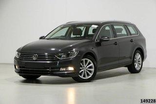 2018 Volkswagen Passat 3C MY18.5 132 TSI Comfortline Manganese Grey 7 Speed Auto Direct Shift Wagon.