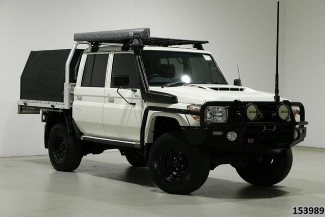 Used Toyota Landcruiser VDJ79R GXL (4x4) Bentley, 2018 Toyota Landcruiser VDJ79R GXL (4x4) White 5 Speed Manual Double Cab Chassis