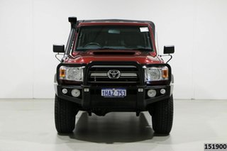 2017 Toyota Landcruiser LC70 VDJ79R MY17 GXL (4x4) Merlot 5 Speed Manual Double Cab Chassis.