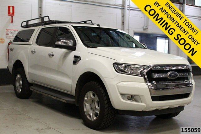 Used Ford Ranger PX MkII XLT 3.2 (4x4) Bentley, 2016 Ford Ranger PX MkII XLT 3.2 (4x4) White 6 Speed Automatic Double Cab Pick Up