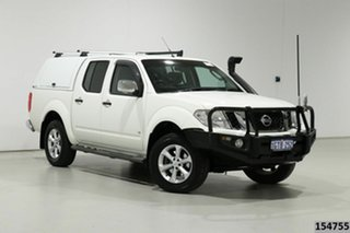 2012 Nissan Navara D40 MY12 ST-X (4x4) White 7 Speed Automatic Dual Cab Pick-up.