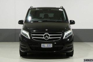 2017 Mercedes-Benz V250d 447 MY17 Avantgarde MWB Obsidian Black Metallic 7 Speed Automatic Wagon.