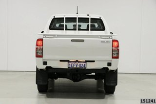 2013 Toyota Hilux KUN26R MY12 SR (4x4) White 5 Speed Manual Dual Cab Pick-up