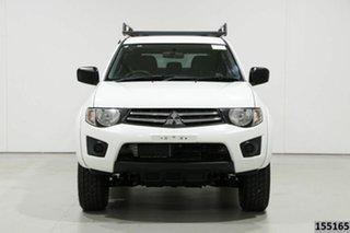 2015 Mitsubishi Triton MN MY15 GLX (4x4) White 5 Speed Manual 4x4 Double Cab Utility.