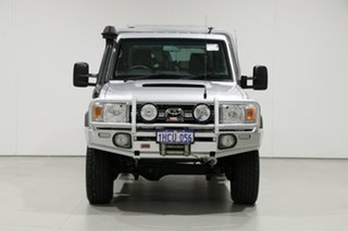 2012 Toyota Landcruiser VDJ79R MY12 Update GXL (4x4) Silver 5 Speed Manual Cab Chassis.