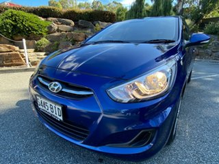 2015 Hyundai Accent RB2 MY15 Active Dazzling Blue 4 Speed Sports Automatic Hatchback