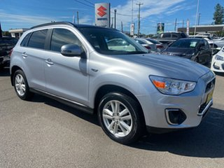 2013 Mitsubishi ASX XB MY13 Aspire 2WD Silver 6 Speed Constant Variable Wagon.
