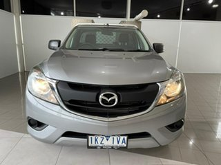 2017 Mazda BT-50 UR0YE1 XT 4x2 Silver, Chrome 6 Speed Manual Cab Chassis.